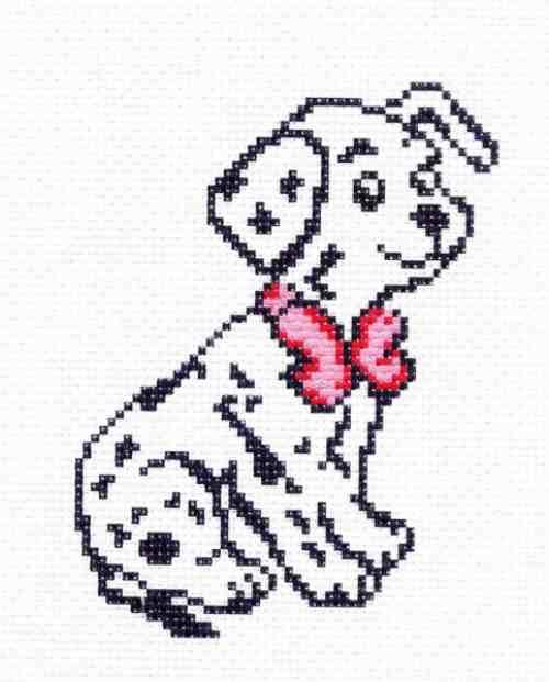 Схемы вышивки крестом щенок далматинца 53